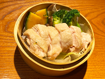 Steamed chicken, locally-producted